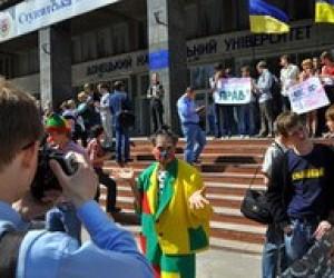 Донецкие студенты продемонстрировали негативное отношение к Табачнику